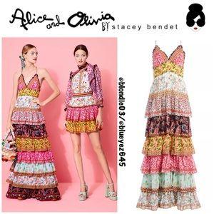 Alice + Olivia Imogene Tier Ruffle Maxi Dress 2